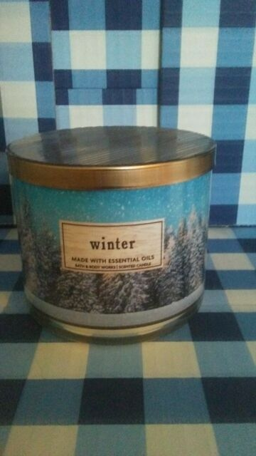BATH AND BODY WORKS 3 WICK WINTER JAR CANDLE 14.5 OZ. FREE SHIPPING
