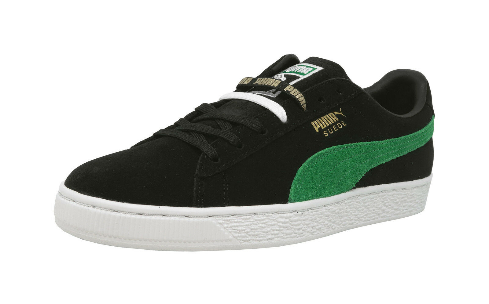 PUMA 50 Suede Classic X XLarge Black Green White Lace Up Sneakers Men shoes
