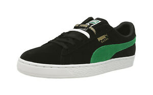 PUMA 50 Suede Classic X XLarge Black Green White Lace Up Sneakers ... d355868de