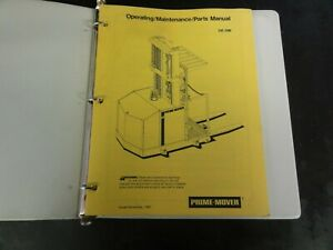Prime-Mover-OE-30B-Forklift-Operating-Maintenance-Parts-Manual-1983