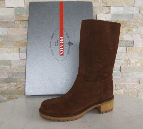 3u5901 Ehem New 590 Bottes Prada Marron Bottines Uvp Taille Chaussures Bottes 5 36 ATZYwx4Aq