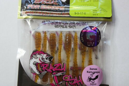 "DropShot ultra-léger Crazy Fish soft lures /""TIPSY/"" LRF Jig."