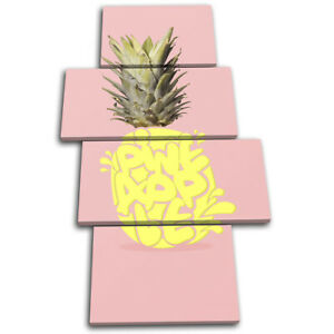 Pineapple-Type-Concept-Food-Kitchen-MULTI-CANVAS-WALL-ART-Picture-Print