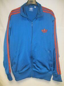 Détails sur Veste ADIDAS rétro vintage bleu orange TREFOIL sport jacket giacca tracktop XL