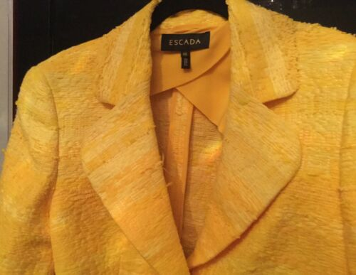 Usa Yellow With Jacket Tweed Sleeve zipper M Eu 40 Escada Bright 1950 Nwt xBfUIw