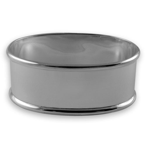 Nouveau-Sterling Argent-serviette ou napkin ring-Coffret-ovale design