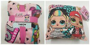 Lol-Surprise-Doll-Fleece-Cushion-and-Travel-Blanket-Throw-120cm-X-150cm-Primark
