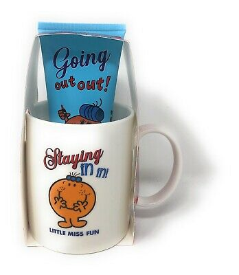 Little Miss Fun Staying In In Mug and Shower Gel Gift Set NEW