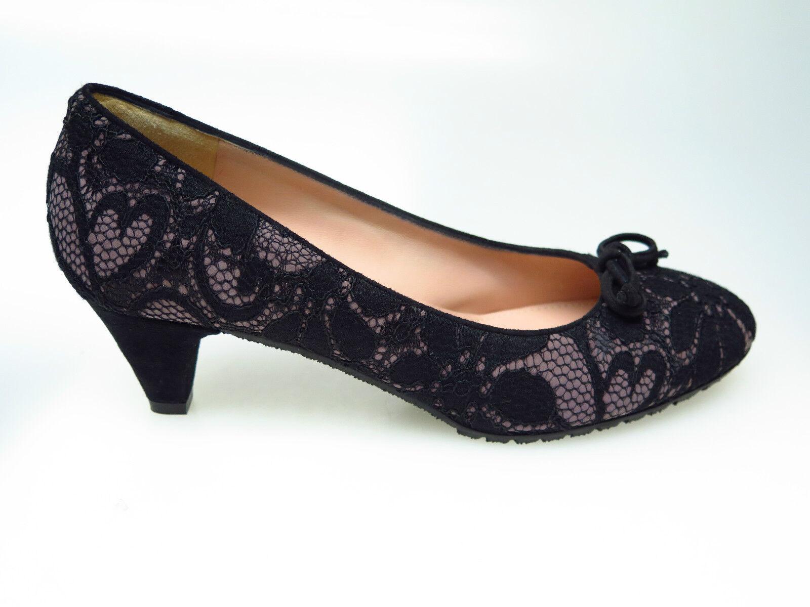 SULTANA Schuhe Designer Designer Designer Damenschuhe N3684 Gaga Florencia Nero Gr. 39,5 NEU 312060
