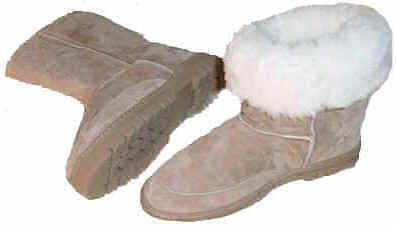 Ladie's de piel piel de de oveja botas bec7f5