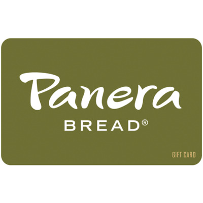 Panera Bread Gift Card - $25 $50 $100 - Email delivery