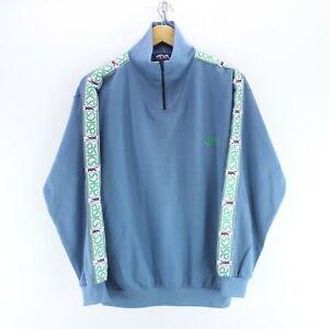 90-039-s-Vintage-ASICS-Men-039-s-1-4-Zip-Neck-Sweater-Blue-Size-M-Arm-Tape-Logo-EF5883