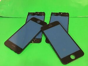 5x-psc-lot-NEW-OEM-2in1-Black-Outer-LCD-Glass-Lens-FRAME-attached-iPhone-5C