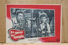 UN GENIO IN FAMIGLIA fotobusta poster Don Ameche Myrna Loy So Goes my Love G76