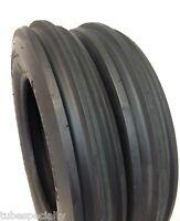 Two 5.00-15 5.00x15, 3 Rib F2 Tractor Farm 2 Tires