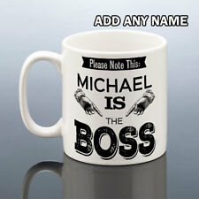 BOSS MUG Christmas Birthday Gift Him Personalised Cup Men Work Friend Present