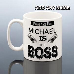 BOSS MUG Birthday Gift Him Personalised Cup Men Work Friend Present