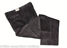BRIONI Dark Grey Micro Check Velvet Cotton CANNES Trousers UK40 UN-HEMMED BNWT