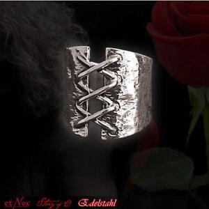 Herzhaft Echt Etnox Korsett Ring Story Of O. Edelstahl Gothic Schmuck - Neu