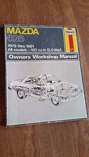 Haynes Mazda 626 1979 thru 1981. All Models. 2.0 Liter Owners Workshop Manual