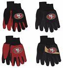 NFL San Francisco 49ers No Slip Gripper Utility Work Gardening Gloves NEW!