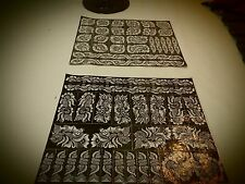2 hearts Sheets of self Adhesive Decal Stencils Henna temporary tattoo free ship
