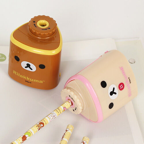 1x Cute Rilakkuma Automatic Eletric Pencil Sharpener School Office Supply San-x