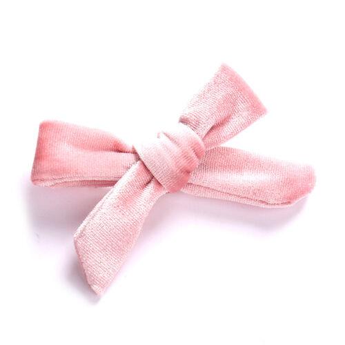 Girl Kids Hairpin Velvet Cross Bow Knot Hair Clip Hair Accessories