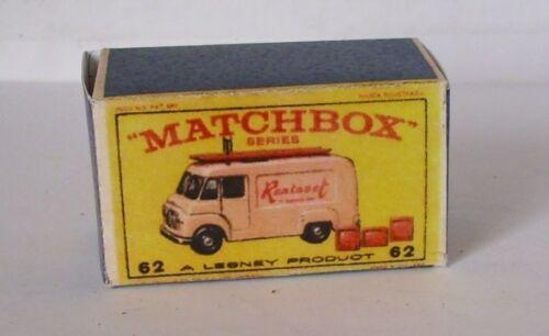 Repro box Matchbox 1:75 nº 62 TV Service van