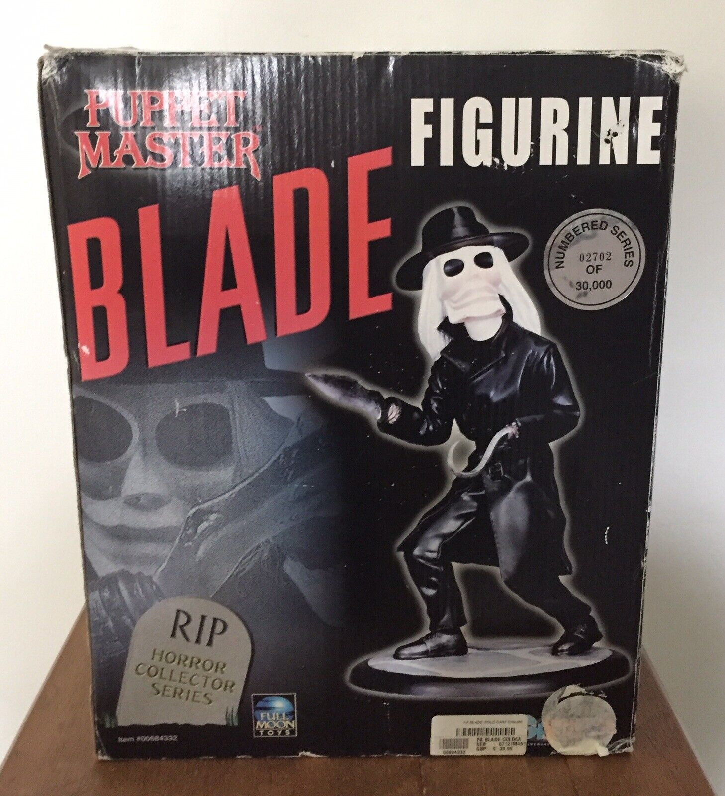 """RARE SPENCER GIFTS RIP HORROR COLLECTORS SERIES PUPPET MASTER 12"""" BLADE FIGURE"""
