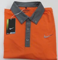 Nike Golf Tour Performance Drifit Shirt Orange Gray Trim Medium