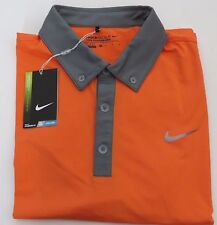 * New Nike Golf Tour Performance DriFit Shirt Orange Gray Trim Medium