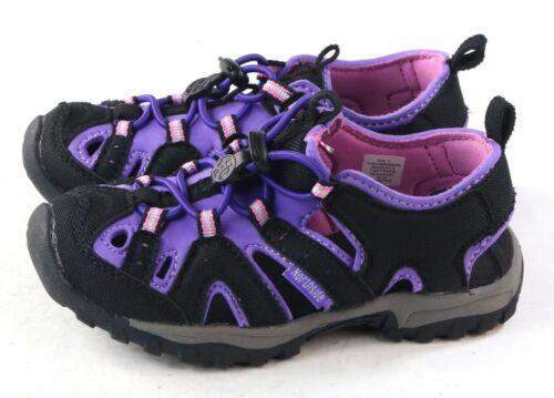 Northside Girls Burke II Sport Sandal Black Purple Toddler 6 M US Bungee Lace