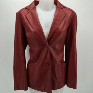 Preston-amp-York-Red-Leather-Jacket-Medium
