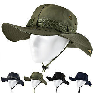 94ca8210c4e Image is loading Summer-Mens-Bucket-Hat-Outdoor-Hunting-Fishing-Cap-