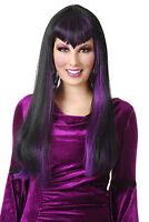 Gothic Vampira Wig Black & Purple 60248 By Charades Vampiress Costumania