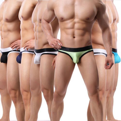 1//6pcs Men/'s Low Rise Underwear Smooth Bulge Pouch Bikini Briefs Underpants Lot
