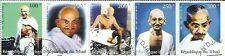 Mahatma Gandhi 5 STAMPS - STAMPS OF GANDHIJI OF REPUBLIC DU TCHAD 1999