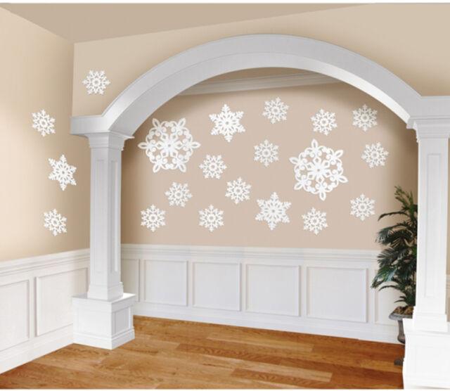 20 x Glitter Snowflake cutout decorations Disney Frozen Theme Party Decorations