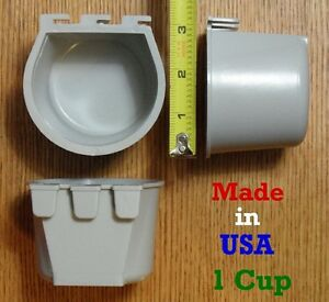 Cage-Cups-8pk-Gray-1-Cup-8-fl-oz-Hanging-Feed-amp-Water-Cage-Cups-Chickens