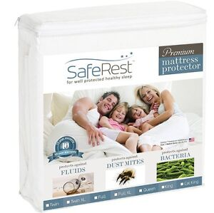 Saferest Premium Hypoallergenic Waterproof Mattress Protector Ebay