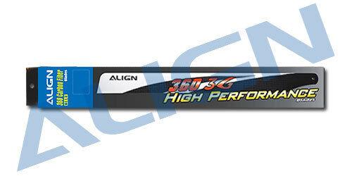 Align Trex 450L Dominator HD360B 360 Carbon Fiber Blades-Blue