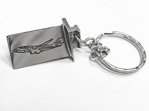 British Airways Boeing 747 Engraved Jet Engine Blade Keyring
