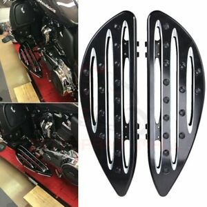 CNC-Edge-Cut-Driver-Stretched-Floorboards-For-Harley-Electra-Glide-Road-King-CVO