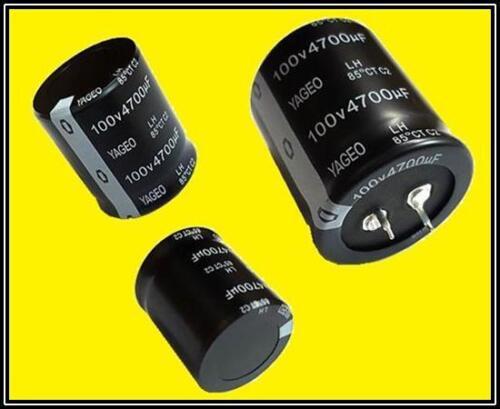 YAGEO Power Supplies Elko Kondensator 4700µF 100V 85° RM10mm 35x40mm Snap-In 1x