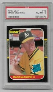 1987-Leaf-46-Mark-McGwire-Rated-Rookie-RC-PSA-8-NmMt-Oakland-Athletics-A-039-s