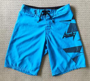Roxy-Mens-Blue-Board-Shorts-100-Polyester-Swimming-Pockets-Boardies