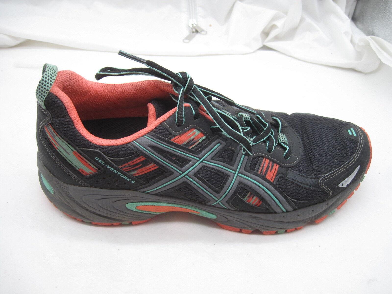 Asics size 9M Gel-Venture 5 black mint womens ladies running sneakers shoes Cheap women's shoes women's shoes