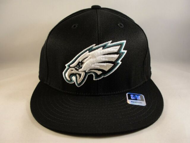 604307e16 best philadelphia eagles nfl reebok size s m flex hat cap black a0dad 763e4