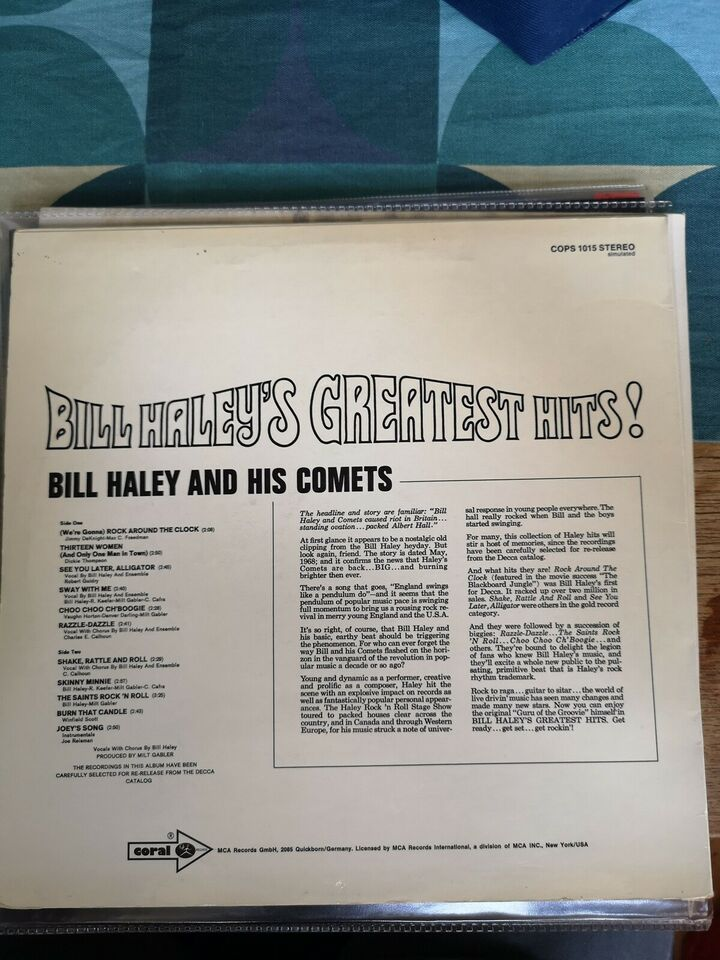 LP, Bill Haley And His Comets, Bill Haley's Greatest hits